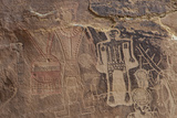 Usa Three Kings Petroglyph, Dinosaur National Monument Photographic Print by Judith Zimmerman