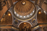 Vatican Inside Ceiling Michelangelo's Dome Overview Photographic Print by William Perry