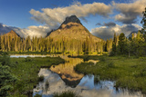 Sinopah Mountain Reflects in Beaver Pond in Two Medicine Valley in Glacier National Park, Montana Photographic Print by Chuck Haney