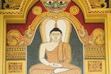 Singapore, East Singapore, Mangala Vihara Buddhist Temple, Buddha Mural Photographic Print by Walter Bibikow