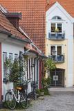 Denmark, Jutland, Aalborg, Houses Along Hjelmerstald Street Photographic Print by Walter Bibikow