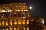 Colosseum Large Moon Details, Rome, Italy Built by Vespacian Photographic Print by William Perry