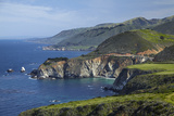 California Central Coast, Big Sur, Pacific Coast Highway, Viewed from Hurricane Point Photographic Print by David Wall