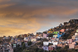 Mexico, Guanajuato. the Colorful Homes and Buildings of Guanajuato at Sunset Photographic Print by Judith Zimmerman