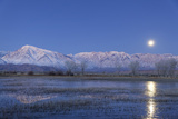 California, Bishop. Full Moon over Sierra Crest Photographic Print by Jaynes Gallery