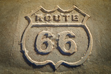Route 66 Historic Sign, Petrified Forest National Park, Arizona, Usa Photographic Print by Russ Bishop