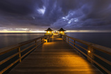 Twilight at the Naples Pier, Naples, Florida, Usa Photographic Print by Brian Jannsen