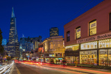 City Lights Bookstore at Dusk , San Francisco, California Photographic Print by Chuck Haney