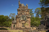 Suor Prat Towers, Angkor Thom, Angkor World Heritage Site, Siem Reap, Cambodia Photographic Print by David Wall