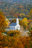 St. Sava Serbian Church and Cemetery in Jackson, California Surrounded by Fall Colors Photographic Print by John Alves