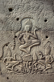Bas-Relief of Apsara, Angkor World Heritage Site Photographic Print by David Wall