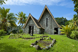 Stone Church in Kwato Island, Papua New Guinea Photographic Print by Michael Runkel
