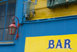 Buenos Aires, Argentina. La Boca Colorful Street with Murals Out Window of Bar of Building Photographic Print by Bill Bachmann