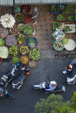 Vietnam, Mekong Delta. Can Tho, Elevated View of City Market Photographic Print by Walter Bibikow