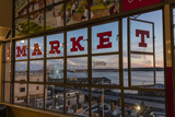 The Great Wheel Framed in Pike Market Place Windows in Seattle, Washington State, Usa Photographic Print by Chuck Haney