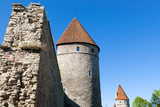 The Old City Walls of the Old Town of Tallinn, Estonia, Baltic States Photographic Print by Nico Tondini