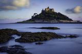 Twilight over Saint Michael's Mount, Marazion, Cornwall, England, Uk Photographic Print by Brian Jannsen