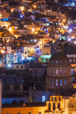 Mexico, the Colorful Homes and Buildings of Guanajuato at Night Photographic Print by Judith Zimmerman