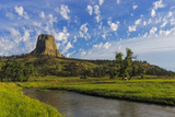 The Belle Fourche River N Devils Tower National Monument, Wyoming, Usa Photographic Print by Chuck Haney