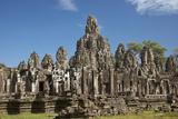 Bayon Temple Ruins, Angkor Thom, Angkor World Heritage Site, Siem Reap, Cambodia Photographic Print by David Wall