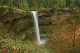 Autumn, South Falls, Silver Falls State Park, Oregon, Usa Photographic Print by Michel Hersen