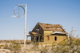 California, Drought Spotlight 3 Route 66 Expedition, Ludlow, Abandon Building Photographic Print by Alison Jones