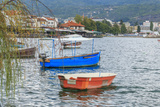 Macedonia, Ohrid and Lake Ohrid. Boats on Water Photographic Print by Emily Wilson