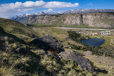 Panorama of El Chalten, Argentina, South America Photographic Print by Michael Runkel