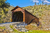 The Beautiful Bridgeport Covered Bridge over South Fork of Yuba River in Penn Valley, California Photographic Print by John Alves