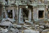 Ta Prohm Temple Ruins, Angkor World Heritage Site, Siem Reap, Cambodia Photographic Print by David Wall