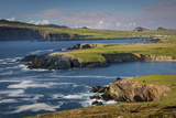 Evening Sunlight over Ballyferriter Bay, Sybil Point and Peaks, Dingle Peninsula Photographic Print by Brian Jannsen