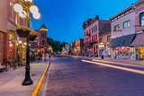 Historic Main Street at Dusk in Deadwood, South Dakota, Usa Photographic Print by Chuck Haney
