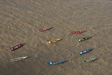 Fishing Boats. Atlantic Ocean, Shell Beach, North Guyana Photographic Print by Pete Oxford