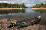 Dugout Canoe. Fairview, Iwokrama Reserve, Guyana Photographic Print by Pete Oxford
