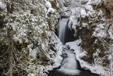 Falls Creek in Winter Near Nelson, British Columbia, Canada Photographic Print by Chuck Haney