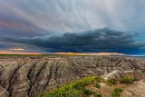 Dramatic Storm Cloud at Sunrise in Badlands National Park, South Dakota, Usa Photographic Print by Chuck Haney