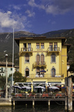 Hotel Malcesine Along the Shore of Lago Di Garda, Lombardy, Italy Photographic Print by Brian Jannsen