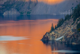 Sunset Colors the Waters at Crater Lake National Park, Oregon, Usa Photographic Print by Chuck Haney