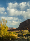 Colorado Plateau. Clouds over a Mesa in Early Autumn, Castle Valley Photographic Print by Judith Zimmerman