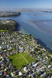 Green Bay Domain, Green Bay, and Manukau Harbour, Auckland, North Island, New Zealand Photographic Print by David Wall