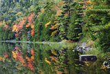 Maine, Acadia National Park, Fall Reflections at Bubble Pond Photographic Print by Joanne Wells