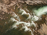 Canada, Aerial View of Waterfall Near Bury Cove Along Hudson Bay Photographic Print by Paul Souders