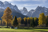 Sextner Dolomites, Dolomiti Di Sesto, the Dolomites During Autumn. Italy Photographic Print by Martin Zwick