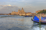 Gondola Lineup in Front of Church of San Giorgio Maggiore. Venice. Italy Photographic Print by Tom Norring