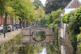 Netherlands, Holland, Utrecht Province, Amersfoort. Inner City Canals Photographic Print by Emily Wilson