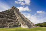 Mexico, Chichen Itza. the East Side of the Main Pyramid Photographic Print by David Slater