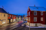 City Center Streets at Dusk in Winter in Reykjavic, Iceland Stampa fotografica di Chuck Haney