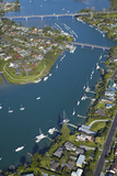 Bridges across Tamaki River Between Pakuranga and Panmure, Auckland, North Island, New Zealand Photographic Print by David Wall