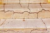 Cracked Steps in the Barrio Viejo District of Tucson, Arizona, Usa Stampa fotografica di Chuck Haney