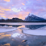 Mount Rundle at Sunset, Banff National Park, Alberta Photographic Print by Tim Fitzharris